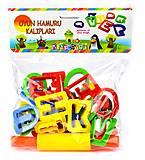 Набор инструментов для лепки «Буквы», E ERN-012, отзывы