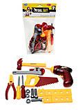 Набор игрушечных инструментов «Маленький мастер», 0717-B, купить