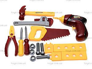 Набор игрушечных инструментов «Маленький мастер», 0717-B, цена