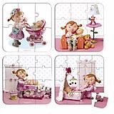 Набор из 4 пазлов Janod «Лилу играет с куклами», J02881, купить