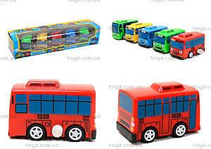Набор заводных автобусов с мультика «Приключения Тайо», DK-01, фото