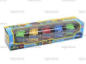 Набор заводных автобусов с мультика «Приключения Тайо», DK-01, игрушки