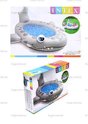Надувной бассейн «Акула», 57433NP