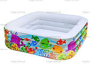 Надувной бассейн «Аквариум», 57471, игрушки