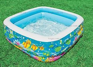 Надувной бассейн «Аквариум», 57471, купить