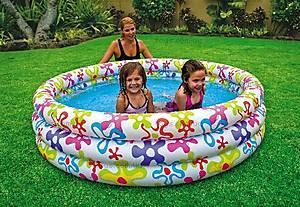 Надувной бассейн «Цветные брызги», 56440