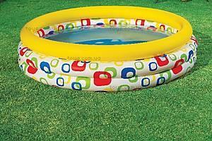 Надувной бассейн «Веселая геометрия», 58449, купить
