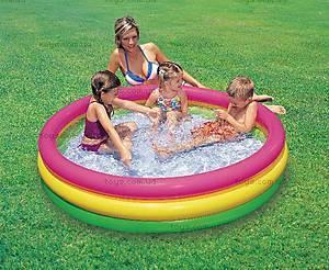 Надувной бассейн «Весёлая радуга», 57412, купить