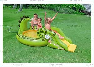 Надувной игровой центр «Крокодил», 57132NP