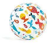 """Надувной мяч """"Рыбки"""", 51 см, 59040, фото"""