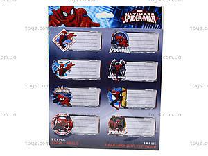 Наклейки для тетрадей «Человек-паук», SMAB-US1-STCR-BL16