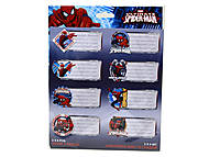 Наклейки для тетрадей «Человек-паук», SMAB-US1-STCR-BL16, детский