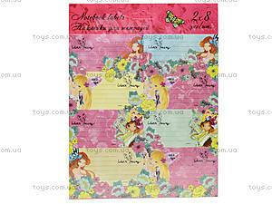 Наклейки для тетрадей Winx Fairy, WXBB-US1-STCR-BL16