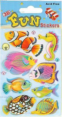 Наклейки мягкие 3D «Рыбки», S-407