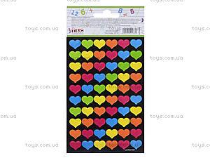 Учительские наклейки «Сердечки», 240 штук, 951177, купить