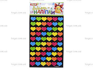 Учительские наклейки «Сердечки», 240 штук, 951177