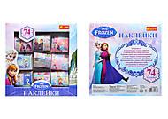 Наклейки для девочек «Фрозен», 74 штуки, 9780, купить