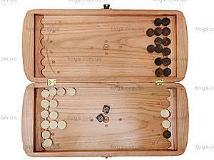 Деревянные нарды резные, 171883, детские игрушки