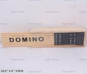Настольная игра домино в деревянном футляре, B15623
