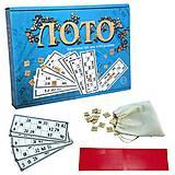Настольная игра Лото, 30662