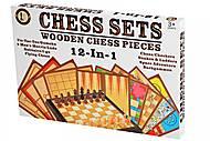 Настольная игра Same Toy «Шахматы 12 в 1», 522Ut, оптом