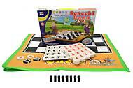 Настольная игра «Шашки», с ковриком, 3314, фото
