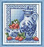 Натюрморт с клубникой, картина для вышивки, J045, фото