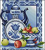 Натюрморт с яблоками, набор для вышивки, J045(1), фото