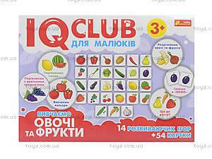 Пазлы «Вивчаємо овочі та фрукти. IQ-club для малышей», 13203004У, магазин игрушек