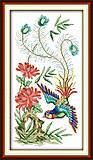 Нежные птички, картина для вышивки, D194, фото
