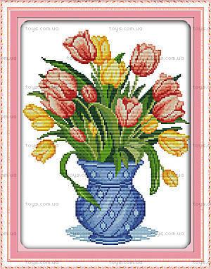 Нежные тюльпаны, вышивка картины крестиком, H335