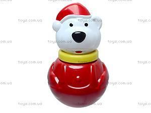 Неваляшка «Белый мишка», маленькая, 01678, игрушки