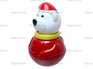 Неваляшка «Белый мишка», маленькая, 01678, детские игрушки