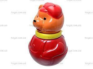 Неваляшка «Мишка в кепке», маленькая, 01677, игрушки