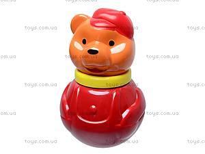 Неваляшка «Мишка в кепке», маленькая, 01677, магазин игрушек