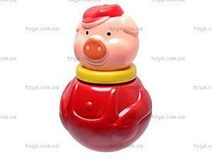 Неваляшка «Поросенок», маленькая, 01681, детские игрушки