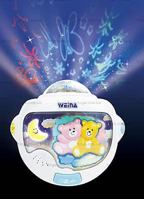 Ночной светильник с проектором Weina «Двойняшки Тедди», 2129, купить