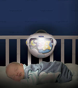 Ночной светильник с проектором Weina «Двойняшки Тедди», 2129, фото