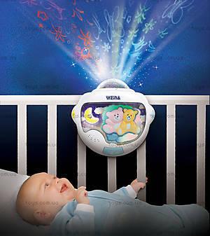 Ночной светильник с проектором Weina «Двойняшки Тедди», 2129, отзывы
