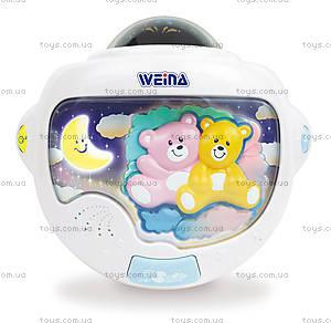 Ночной светильник с проектором Weina «Двойняшки Тедди», 2129, цена