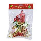 Новогоднее украшение «Свечи», С30512, детские игрушки