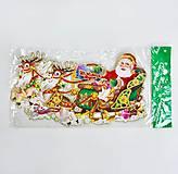 """Новогоднее украшение из картона """"Дед Мороз в санях"""", C30224, іграшки"""