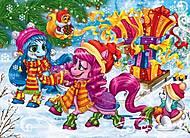 Новогодние пазлы с лошадками пони, S20-07-10, игрушки