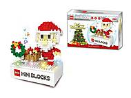 """Новогодний музыкальный конструктор """"Санта Клаус"""" (314 деталей), 607B, игрушки"""
