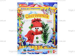 Новогодний набор для детей «Снеговик», 3139-03, отзывы