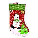 """Новогодний носок для подарков """"Снеговик"""", C30439, toys"""