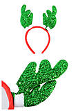 Новогодний ободок «Рожки», 2 вида , С30756, фото