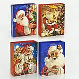 Новогодний подарочный пакет с Санта-Клаусом, 01532