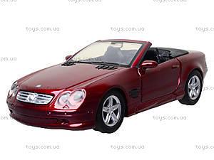 Коллекционная машинка Mercedes Benz SL 500, 50873A, детские игрушки