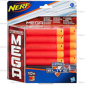 Набор запасных патронов NERF Mega, 10 штук, A4368